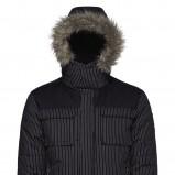 czarna kurtka New Yorker w paski - zima 2011/2012