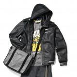 czarna kurtka Reserved z kapturem - z kolekcji wiosna-lato 2011