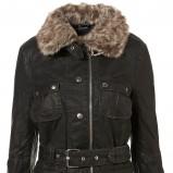 czarna kurtka Topshop z futerkiem - kolekcja jesienno-zimowa