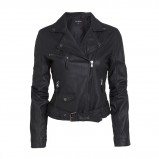 czarna ramoneska Lindex - wiosenne kurtki