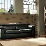 czarna skórzana sofa - nowoczesne wnętrza