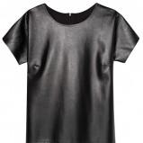 czarna skórzana sukienka Reserved - sukienki 2012/13