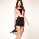 czarna spódnica Asos asymetryczna - z kolekcji wiosna-lato 2012