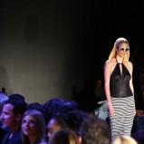 czarna spódnica Esotiq & Eva Minge w paski - wiosna/lato 2012