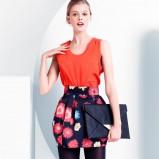 czarna spódnica H&M w kwiaty - jesień/zima 2011/2012