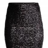 czarna spódnica H&M z cekinami