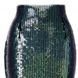 czarna spódnica H&M z cekinami - lato 2012