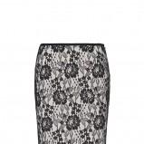 czarna spódnica Mango koronkowa - studniówka 2013