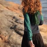 czarna spódnica Reporter plisowana   z kolekcji jesień 2012