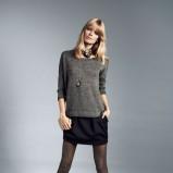czarna spódnica Reserved mini - jesień 2012