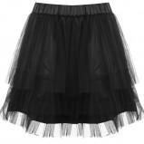 czarna spódnica Tally Weijl koronkowa - jesień 2011