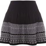 czarna spódnica Tally Weijl we wzorki - jesień 2011