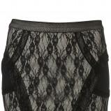 czarna spódnica Topshop z koronką - trendy na jesień-zimę