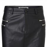 czarna spódnica Vero Moda z zamkami skórzana