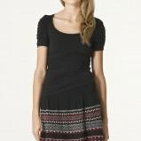 czarna spódnica ZARA we wzory - z kolekcji wiosna-lato 2011