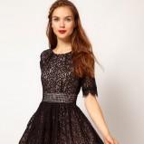 czarna sukienka Asos krótka - studniówka 2013