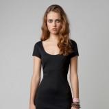 czarna sukienka Bershka z krótkim rękawem - wiosna/lato 2012