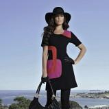 czarna sukienka bonprix we wzorki - moda na jesień i zimę 2013/14