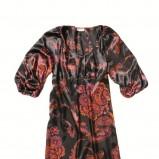 czarna sukienka C&A we wzory - moda 2011/2012