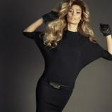 czarna sukienka Caterina - kolekcja jesienno-zimowa