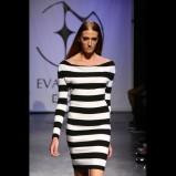 czarna sukienka Esotiq & Eva Minge w pasy - z kolekcji wiosna-lato 2012