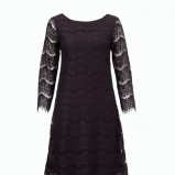 czarna sukienka F&F koronkowa  - moda wieczorowa