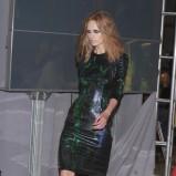czarna sukienka Gosia Baczyńska we wzory - moda 2011