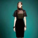 czarna sukienka Gucci - zimowe trendy 2013/14
