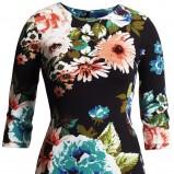 czarna sukienka H&M w kwiaty - sezon wiosenno-letni