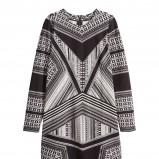 czarna sukienka H&M we wzory