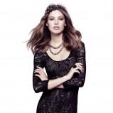 czarna sukienka H&M z koronką - jesień/zima