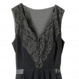 czarna sukienka H&M z koronką - moda jesień/zima 2010