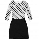 czarna sukienka House w groszki - lato 2013