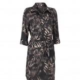 czarna sukienka InWear we wzorki - z kolekcji jesień-zima