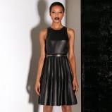 czarna sukienka Jason Wu skórzana - jesień 2013