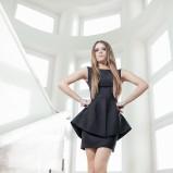 czarna sukienka Kasia Zapała - wiosna-lato 2012