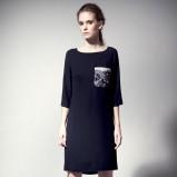 czarna sukienka Langner - moda jesień/zima