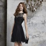 czarna sukienka Laredoute z koronką