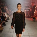 czarna sukienka Maciej Zień z ozdobami - jesień/zima 2011/2012