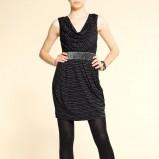 czarna sukienka Mango świecąca - jesień-zima 2010/2011