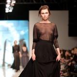 czarna sukienka Natasha Pavluchenko prześwitująca - wiosenna kolekcja