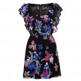 czarna sukienka New Yorker w kwiaty - wiosna/lato 2012