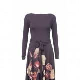 czarna sukienka Solar w kwiaty - jesień-zima 2012/2013