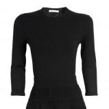 czarna sukienka Stefanel z długam rękawem - kolekcja jesienna 2013