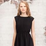 czarna sukienka Stradivarius bombka - z kolekcji wiosna-lato 2012