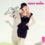 czarna sukienka Tally Weijl z koronką   trendy 2012