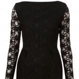 czarna sukienka Topshop koronkowa - z kolekcji wiosna-lato 2011