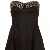 czarna sukienka Topshop rozkloszowana - z kolekcji wiosna-lato 2011