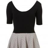 czarna sukienka Topshop rozkloszowana - z kolekcji wiosna-lato 2012