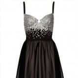 czarna sukienka Topshop z cekinami - sylwester 2012/13
